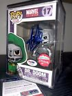 Marvel Comics Funko Pop Exclusive Dr. Doom- Signed By STAN LEE with COA