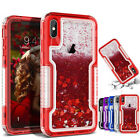 For iPhone Xr Xs Max 8 7 Plus 6s Heavy Duty Quicksand Glitter Liquid Case Cover
