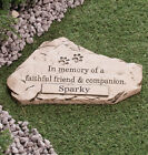 Pet Grave Marker Personalized Memorial Stepping Stone Dog Cat Garden Paw Engrave
