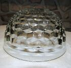 INDIANA GLASS WHITEHALL (CUBIST) PUNCH BOWL SERVING BOWL FRUIT
