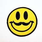 Mustache style Emoji Face Vintage Retro Fashion DIY Clothing Jeans Iron on Patch