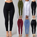 Pencil Jeans Women Lady Stretch Casual Denim Skinny Pants High Waist Trousers US
