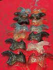 Fenton Glass Shoe Lot Of 14 Shoes Heels Cat Slippers