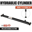 Hydraulic Cylinder Welded Double Acting 3 Bore 32 Stroke Cross Tube 3x32