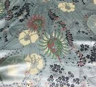 Light Blue Fantasy Floral Silk Charmeuse