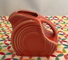 Fiestaware Persimmon Mini Disc Pitcher Fiesta Retired Orange 5 oz Creamer