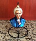 CHRISTOPHER RADKO BLOWN GLASS ORNAMENT HOOKED ON CLASSICS CHOPIN BUST 1998