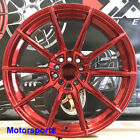 XXR 567 Wheels Candy Red 18 +35 Staggered Rims 5x1143 Fit Nissan 240sx SE 300zx