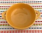 Vintage Fiestaware Yellow Cream Soup Bowl Fiesta Handled Footed Bowl