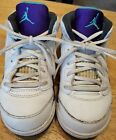 Jordan sneakers toddlers size 8 C white blue trim with laces leather nice