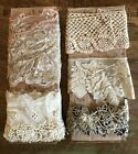 9 2/3 YARDS of 5 Fab ANTIQUE CROCHET LACE Pieces TRIM Edging Dolls LOTFrench #G