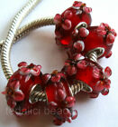 Wholesale Silver Lampwork Murano Glass Beads Fit European Charm Bracelet TF160