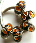 Wholesale Silver Lampwork Murano Glass Beads Fit European Charm Bracelet TF180