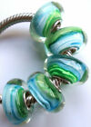 Wholesale Silver Lampwork Murano Glass Beads Fit European Charm Bracelet TF214