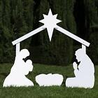 Outdoor Garden Nativity Scene Figure Set Perfect Christmas Decoration 58 x 44
