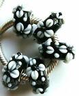 Wholesale Silver Lampwork Murano Glass Beads Fit European Charm Bracelet TF297