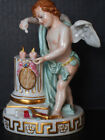 Antique Capodimonte Cupid Hearts Fire Archer Arrow Messenger Putti Angel Cherub