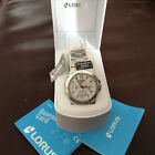 NEW LORUS UNISEX STAINLESS STEEL WATCH LEAFLETS BOX AND TAGS. RRP APPROX £145