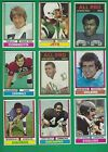 1974 Topps Football lot of 66 diff cards Riggins Lilly Page Carmichael RC