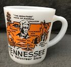 Tennessee The Volunteer State Milk Glass Coffee Mug Cup fire king anchor hocking