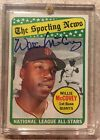 1969 Topps Willie McCovey #416 Sporting News Signed Auto Blue