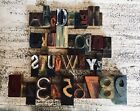 Letterpress letters Print Blocks alphabet numbers wood type printer AFCREEK
