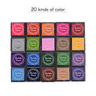 20Pcs Candy Color Small Ink Pad Set for Scrapbook Notebook DIY Decoration Stamps