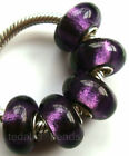 Wholesale Silver Lampwork Murano Glass Beads Fit European Charm Bracelet TF390
