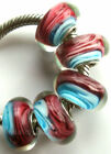 Wholesale Silver Lampwork Murano Glass Beads Fit European Charm Bracelet TF398