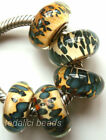 Wholesale Silver Lampwork Murano Glass Beads Fit European Charm Bracelet TF442