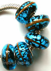 Wholesale Silver Lampwork Murano Glass Beads Fit European Charm Bracelet TF445