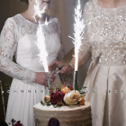 12 Sparklers Candle Wedding Birthday Anniversary Sparkle Party Favors Fun Silver