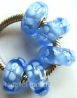 Wholesale Silver Lampwork Murano Glass Beads Fit European Charm Bracelet TJ021
