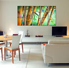 Autumn forest print on canvas forest wall art 5 panel canvas print artwork