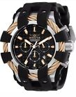 Invicta 23859 Men's Chrono Rose Gold Bezel Black Dial Dive Watch