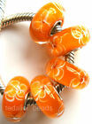 Wholesale Silver Lampwork Murano Glass Beads Fit European Charm Bracelet TJ068