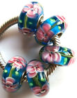 Wholesale Silver Lampwork Murano Glass Beads Fit European Charm Bracelet TJ094