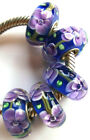 Wholesale Silver Lampwork Murano Glass Beads Fit European Charm Bracelet TJ095