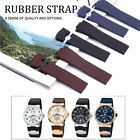 25mm Rubber Silicone Watch Band Strap Fit For Ulysse Nardin Marine Diver + Tools
