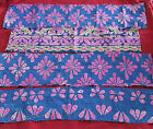 VINTAGE SARI BORDER ANTIQUE ZARI HAND EMBROIDERED WORK TRIM RIBBON LACE 2