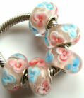 Wholesale Silver Lampwork Murano Glass Beads Fit European Charm Bracelet TK014