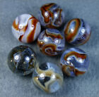 7 MINT ANTIQUE RAVENSWOOD TRANSPARENT SWIRL MARBLES