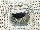 Antique Chinese Petit-Point Embroidered Scent Purse Pouch Bag