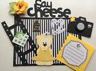 Say Cheese Tear Bear Girl Paper Piecing Pre made Scrapbook Page Sewn Mat Set