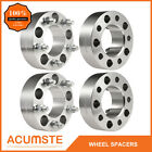 4PCS 2 5x55 Wheel Spacers Adapters For Jeep Wrangler Grand Cherokee JK Offroad