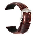 MAIKES Watch Band, Vintage Oil Wax Leather Strap 5 Colors 20mm 22mm 24mm 26mm