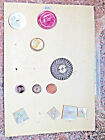 LOT OF 11 VINTAGE CARVED ABALONE / MOTHER OF PEARL BUTTONS - CARD #2013/