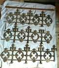3 Sections~Antique Cast Iron Architectural Salvage Ornate Window/Balcony Guards