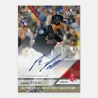 2018 RAFAEL DEVERS SIGNED BOSTON RED SOX WORLD SERIES TOPPS NOW AUTO CARD #949A