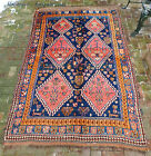 Antique  Qashqai Tribal Small Carpet  c. early 1900s